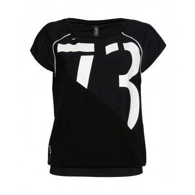 Top zwart/wit Zip73
