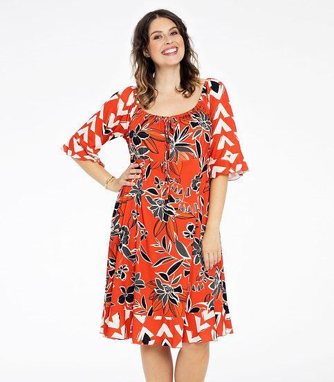 Yoek jurk met wijde hals 9207551