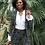 Thumbnail: Blazer Lara stretch paint zwart Helena Hart
