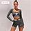 Thumbnail: S.B.S -Women Two 2 Piece Gray Long Sleeve Crop Top
