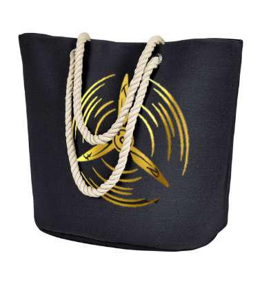 T.F.P. Polyester Canvas Rope Tote