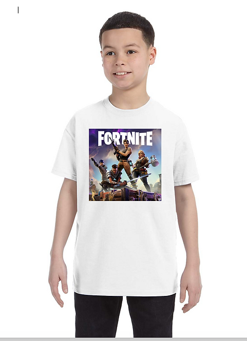 Fortnite Cover Youth Tee
