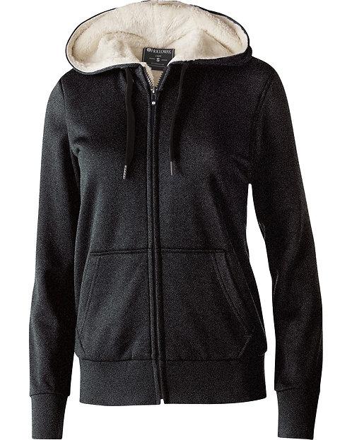 Holloway Ladies' Polyester Fleece Full Zip Hooded Artillery Sherpa Jacket