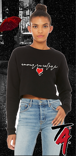 Angry Love Cropped Crew Neck