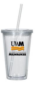 UMW Clear Tumbler w. Straw