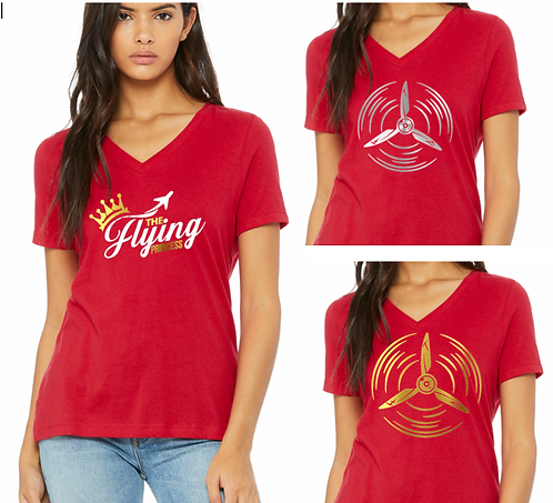 Ladies - Relaxed Fit V-Neck - T.F.P. Logo Tee