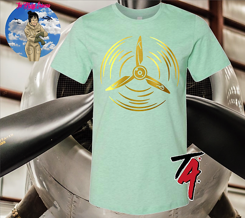 The Flying Princess Gold Propeller Tee