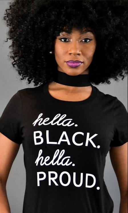 Hella.Black.Hella.PROUD tee