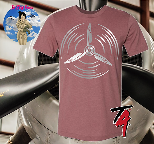 The Flying Princess Silver Propeller Tee