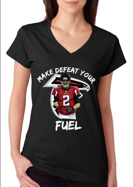 Falcons-Make Defeat Your Fuel-Ladies Tee