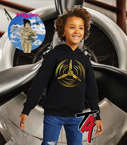 The Flying Princess Youth Gold Propeller Hoodie
