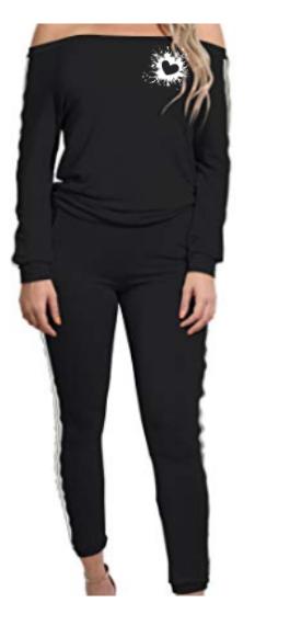 Hustle by JM-Off Shoulder 2 Piece Bodysuit