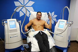 Man getting coolsculpting