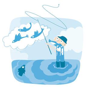 Le pêcheur de poissons volant