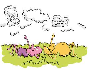 illustrtaion-jeunesse-nuages-bonheur-enf