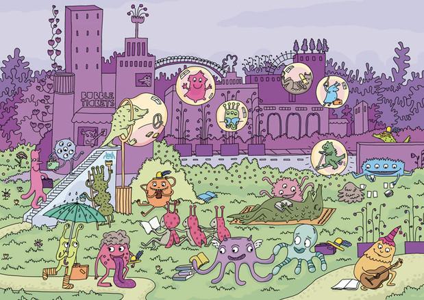 Illustration-ville-monstre-extra-terrest