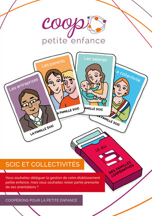 """Identité visuelle et communication """"Coop Petite Enfance"""""""