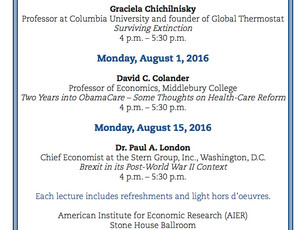 Upcoming Presentation: August 15