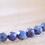 Closer view of tiny 3mm dark blue Lapis Lazuli gemstones