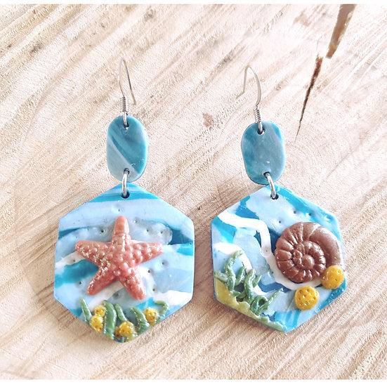 Under water earrings