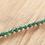 Closer view of tiny 3mm dark forest green Malachite gemstone