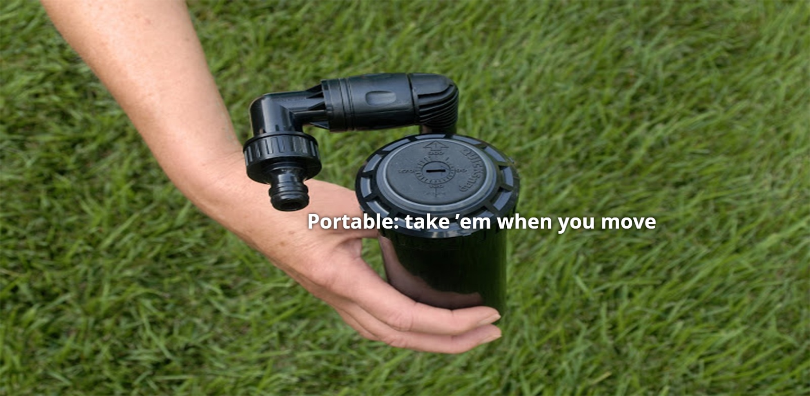 Lawn sprinkler in hand