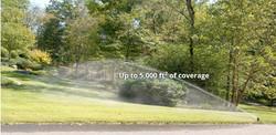 Lawn sprinkler spray distance