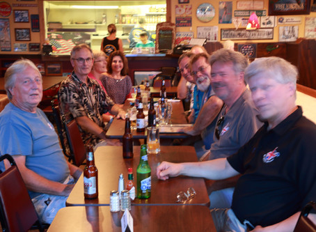Pistons & Pints at the Fly-In Cafe