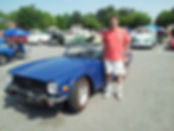 Bob Wright and his Triumph TR6