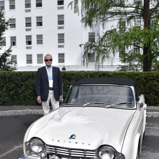 Larry V. Stonestreet and his 1962 TR4 Gr