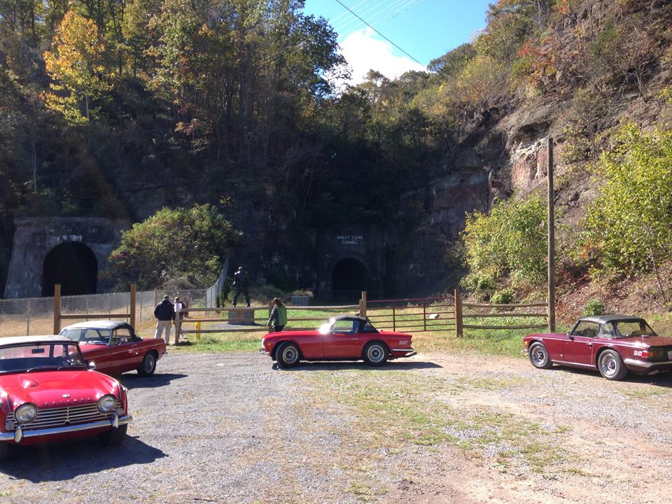 Cars at a famous WV attraction