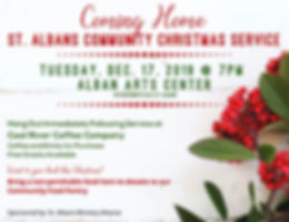Community Christmas Service, Coming Home