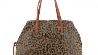Monogrammable Canvas Cheetah/Leopard Top Handle Bag