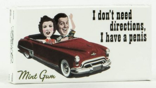 Blue Q Gum -I Don't Need Directions