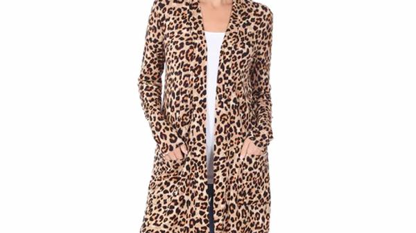 Leopard Print Light Weight Cardigan