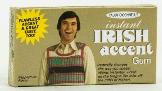 Blue Q Gum - Irish Accent