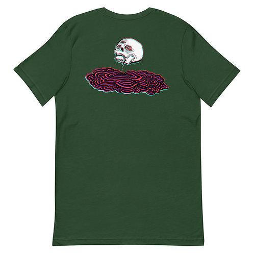 glitch skull tee