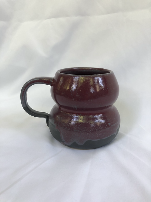 Maroon Drip Bubble Mug