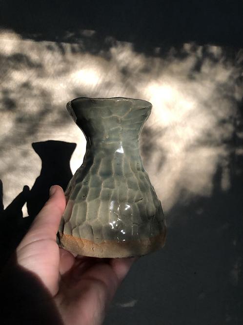 Blue morel vase