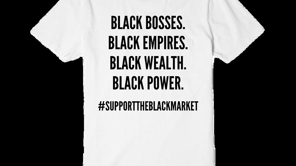 White Black Bosses Tee