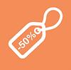 50% скидка - Orange