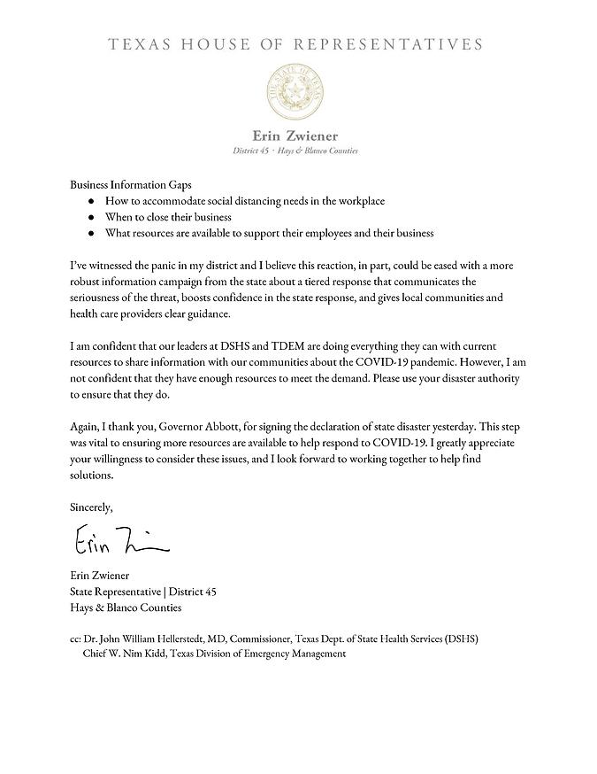 COVID-19 Letter to Gov. Abbott Letter w_