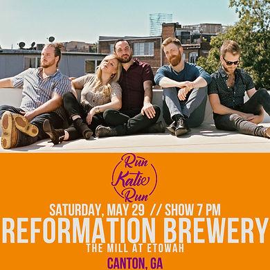 Reformation Brewery Run Katie Run May 29