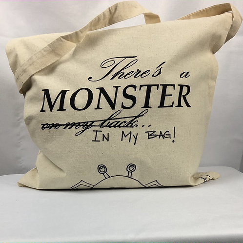 """""""There's a Monster on my Back"""" Tote Bag"""