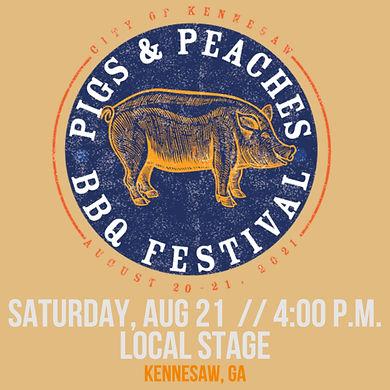 Pigs & Peaches BBQ Festival Run Katie Ru
