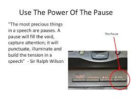 The Pause - Don't leave home without it!
