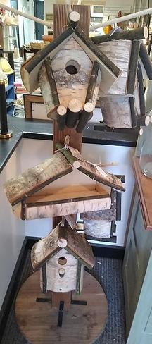 birch birdhouses and feeder.jpg