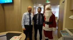 Père Noël et l'équipe du Crédit du Nord - 34 rue Hermel