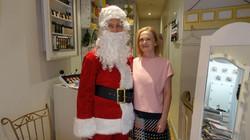 Père Noël avec Christine de l'Institut Estiligne - 46 rue du Poteau