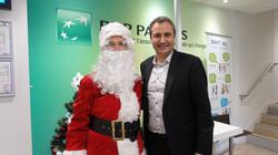 Père Noël chez BNP Paribas - 115 ter rue Ordener